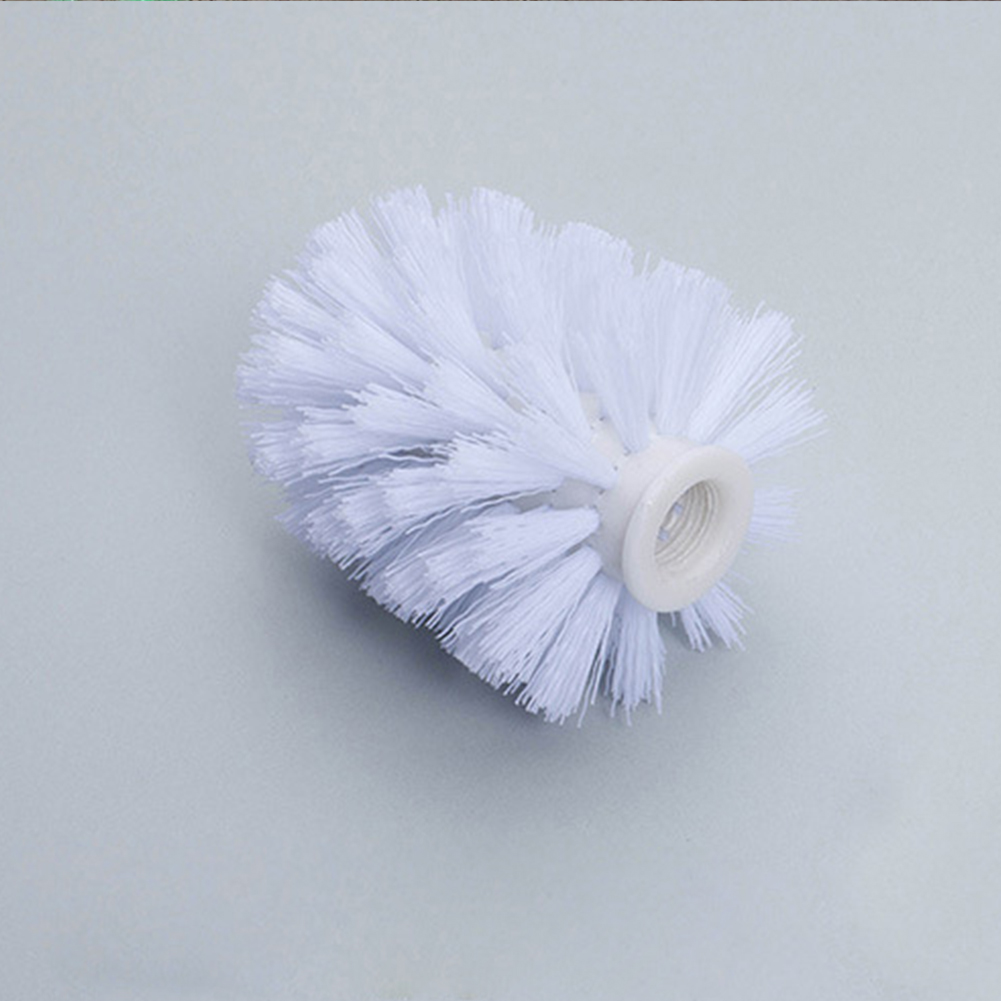 Durable Type White Toilet Brush  Holder Replacement Bathroom WC Clean Spare Accessories Cleaning Brush  For Toilet