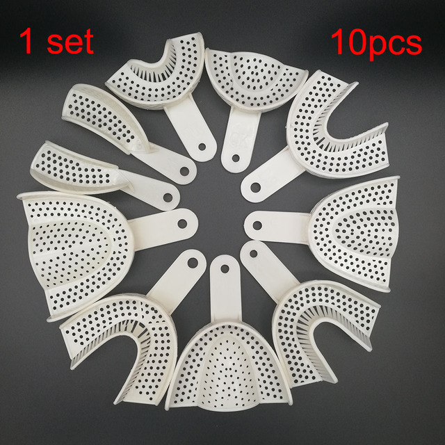 10Pcs/set Dental Impression Plastic Trays Without Mesh Tray Dentist Tools Dentistry Lab Material Teeth Holder Trays 1