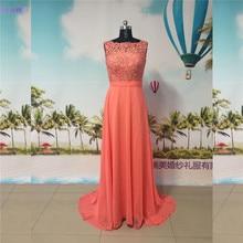 Coral Bridesmaid Dresses Chiffon High Neck Floor Length Cap Sleeves Lace  Brides Maid Dress Free Shipping. 2 Colors Available 9bc827e18ba6