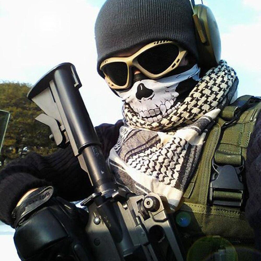 Wholesale Shemagh Military Bandana Men's Foulard Moto Scary Skull Women Scarf Hunting Braga Cuello Buffe Halloween Tactical Mask