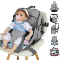 Baby Safe Chair Seat Mat Portable Baby Toddler Simple Car Seat Dining Chair multifunctional Diaper Bag With Baby Seat