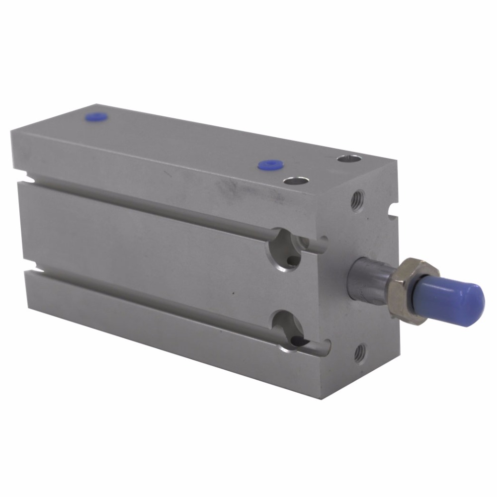 Free Shipping Aluminum Alloy Standard CDU Type 16mm Bore 5/10/15/20/25/30mm Stroke Double Action Pneumatic Air Cylinder free shipping cdu 20 5 male thread single rod air pneumatic cylinder cdu 20 5