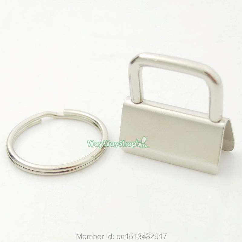 500 sets Key Fob Hardware 25mm 32mm 1 1 25 keychain Split ring For wrist Wristlets