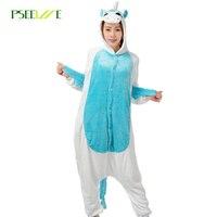 PSEEWE New Cow Sponge Winter Pajamas For Women Men Warm Flannel Adult Homewear Winter Loungewear Sleep