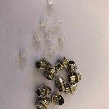 10 шт. 3 мм 5 мм 8 мм 10 мм светодиодный излучающий диод металлический ободок держатель круглый Хромированный Светодиодный светильник с 10 шт. пластиковой крышкой