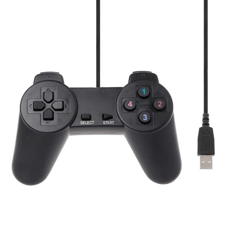 USB 2.0 Wired Multimedia Gamepad Gaming Joystick Joypad Wired Game Controller For Laptop Computer PC