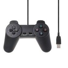 Controle multimídia usb 2.0 com fio, joystick para jogos e computador, com fio