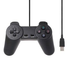 Image 1 - USB 2.0 przewodowa multimedialna Gamepad Joystick do gier Joypad przewodowy sterownik do gier dla Laptop PC
