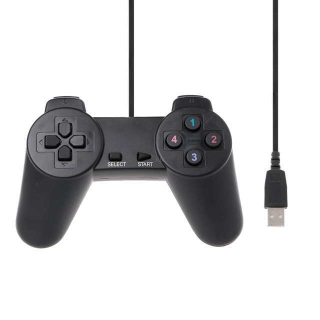 USB 2.0 przewodowa multimedialna Gamepad Joystick do gier Joypad przewodowy sterownik do gier dla Laptop PC