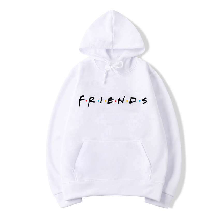 Hoodies & Sweatshirts Friends Tv Show Logo Letter Alphabet Couple Clothes Boys Man Male Autumn Winter Fleece Hoodies