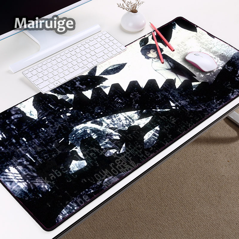 Mairuig Beautiful XXL Size Gaming mouse Pad Pc Computer Game Table Mat Steins;Gate Anime Creative Printed Mouse Mat for A Gift