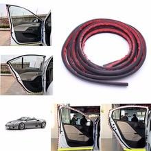 4m P Shape Car Door Rubber Weather Seal Strip EPDM Noise Insulation Weatherstrip Vehicle Adhesives Sealants Car Maintenance Car