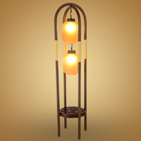 new Chinese RETRO iron glass floor lamps living room lights study bedroom bedside lamp floor light ZA922645