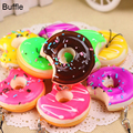 10pcs/Lot Mobile Phone Straps Squish Cute Soft Donut Phone Keychain for all Phones Decor Cute Strap Kid Present mixed package