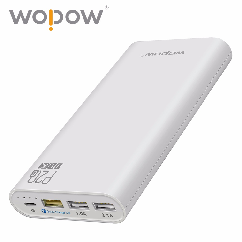 Wopow Quick Charger 15W P20Q 20000mAh powers
