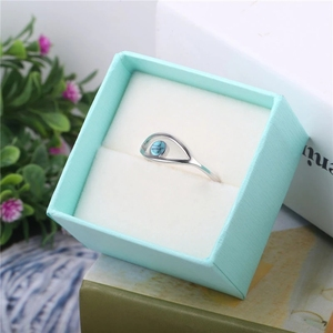Image 5 - Blue Turquoise 925 Sterling Silver Rings For Women Engagement Ring Silver 925 Jewelry Opal Rings Luxury Gift to Friends