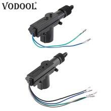 VODOOL 12V araba merkezi kapı kilidi aktüatör Motor tabancası otomatik merkezi kilitleme motoru araç anahtarsız hırsız alarmı sistemi aksesuarları