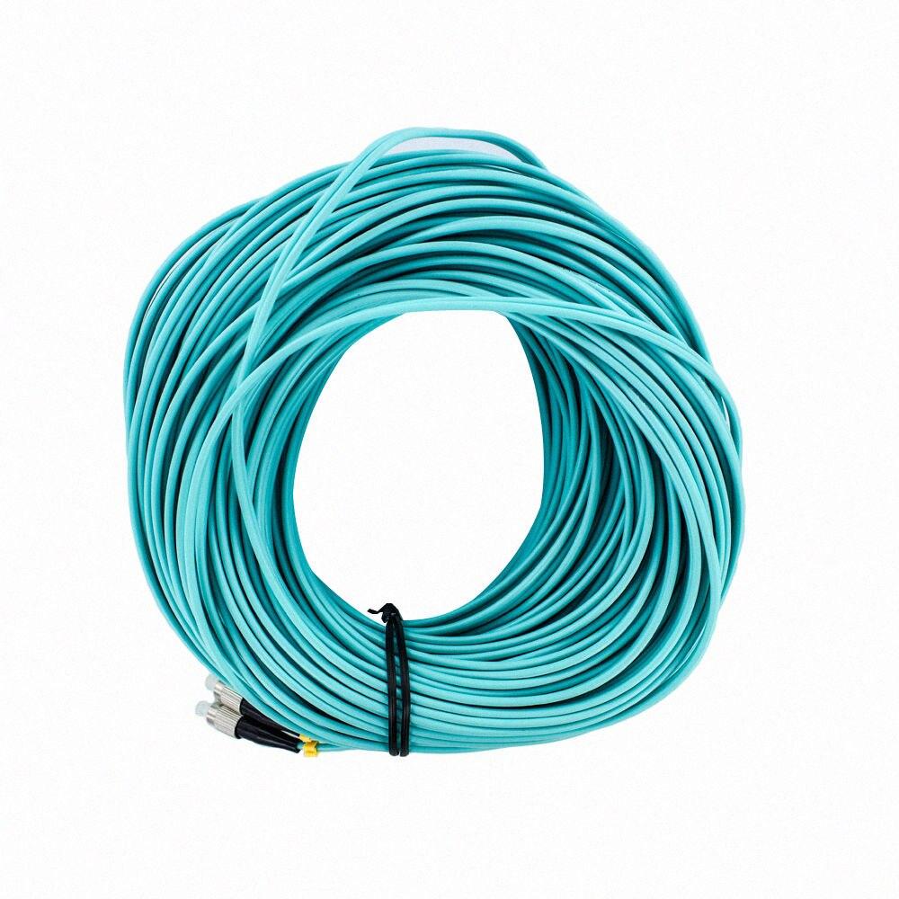 50M FC-FC Duplex 10 Gigabit 50/125 Multimode Fiber Optic Cable OM350M FC-FC Duplex 10 Gigabit 50/125 Multimode Fiber Optic Cable OM3