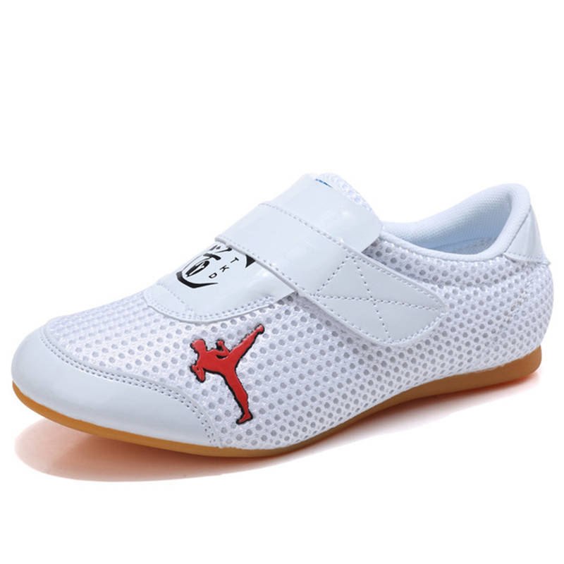 Professional Mens Taekwondo Shoes Kung Fu Wu Shu Karate Wrestling Shoes Woman Mesh Breathable Non-Slip Sneakers D0591 image