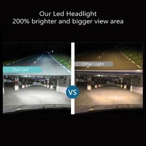 Image 3 - Передние фары Visture для автомобиля, светодиодные фары для авто, 1 пара, лампы H4 H7 H11 H8 HB4 H1 H3 HB3, фары ближнего и дальнего света 6500К, 12 В, передние фары С6