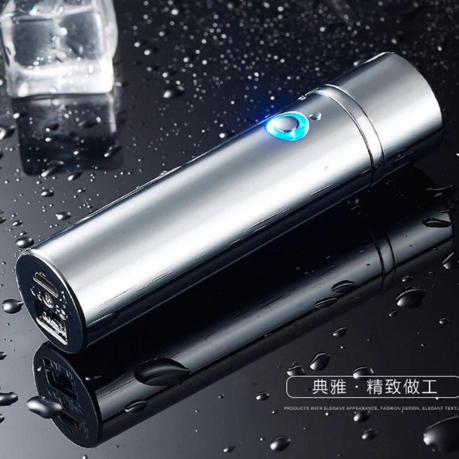 Arc puls usb elektrische zigarette zigarre rohr Zylinder plasma Winddicht leichter mit original box für geschenk für freund