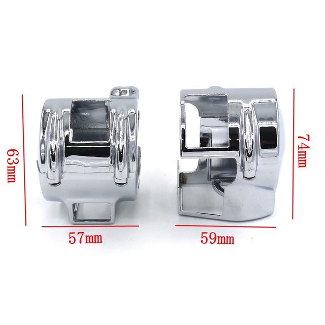 Motorcycle parts Chrome Switch Housing Covers For Honda Shadow VT 600 750 1300C VTX 1300 VLX Aero chrome switch housing cover for honda shadow 600 vt 750 1300 vtx vt1300c vlx ace