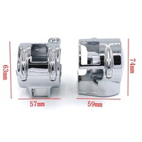 Motorcycle Parts Chrome Switch Housing Covers For Honda Shadow VT 600 750 1300C VTX 1300 VLX