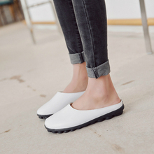 Shoes Women Patent Leather Casual Loafers Slippers Soft Bottom Non-slip Waterproof Pregnant Women Shoes Plush Warm High Quality цена в Москве и Питере