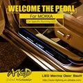 AKD Car Styling LED Moviendo La Puerta Scuff para Opel Mokka Travesaño de la puerta Plate Pedal Bienvenido Logotipo de la Marca LED Drl De Automóviles accesorios