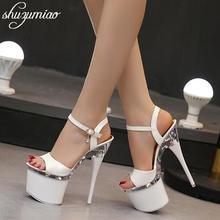 Sandals Heel Dancing-Shoes Steel-Tube Waterproof Women The-Bottom Thick Peep-Toe Summer