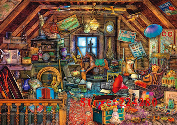 Needlework,Chalet Storage Room High Quality 14CT Counted For Embroidery,DIY Cross stitch kits,Art Cross-Stitching Home Decor