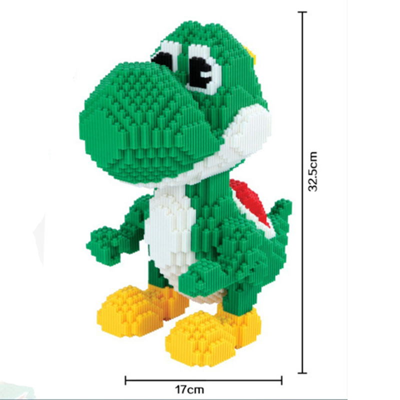 Big Size Super Mario Yoshi Self-assembly Building Blocks Toys Game Cartoon Diamond Micro Bricks Kids DIY Assembling Toy 6900pcs