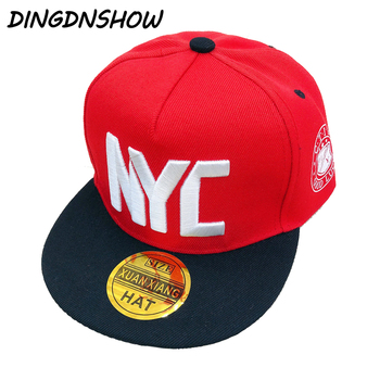 [DINGDNSHOW] 2019 Fashion Baseball Cap Kids Snapbacks Hat Cotton Embroidery Letters Hip Hop Boy Flat Girl