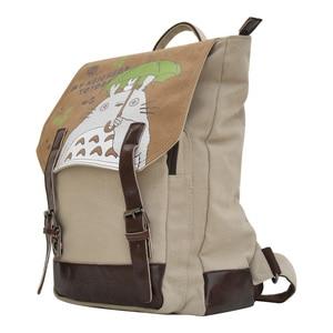 Image 2 - Рюкзак Феи Серафима Мой сосед Тоторо, Холщовый школьный рюкзак с мультяшным принтом для подростков, Детский рюкзак, сумка через плечо