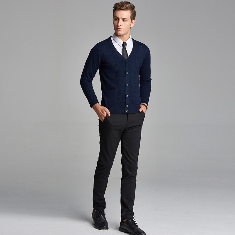 60096075 High Qualtiy Autumn Man Business Long Sleeve V Neck Button Down Wool  Sweater Cardigan-in V-Neck from Men's Clothing on Aliexpress.com | Alibaba  Group