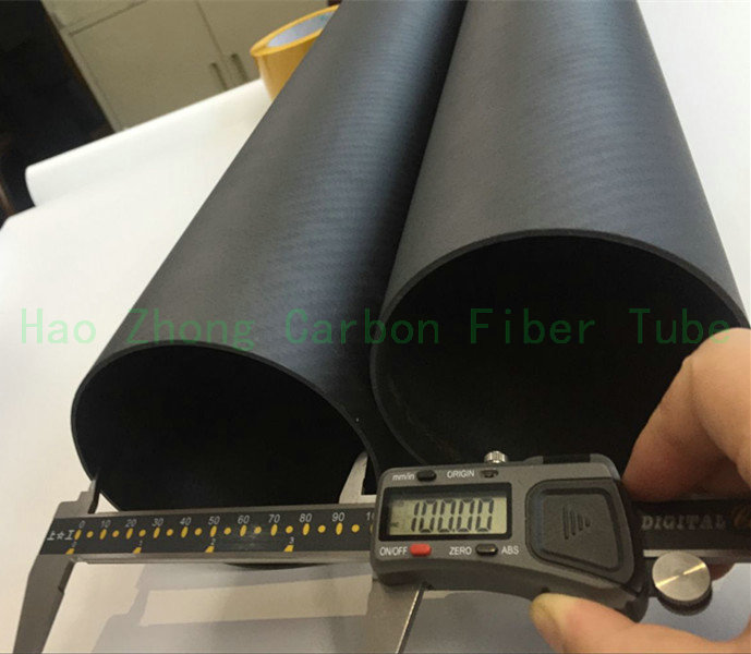 100MM x 96MM  Carbon Fiber Tube  Matt 3k 1000MM Long with 100% full carbon, Roll Wrapped Pipe (2.0wall) 100*96