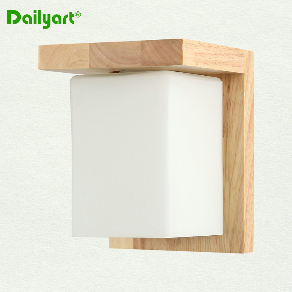 cheap wood acrylic wall lamp wall sconce nordic fashion living room bedroom dining hallway wall lights cheap sconce lighting