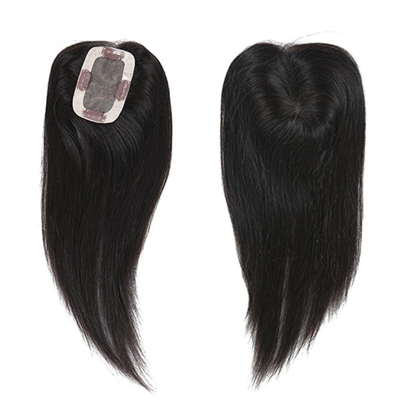 Women-Toupee-Straight-Brazilian-Remy-Hair-Hand-made-mono-100-Human-Hair-Natural-Black-Topper (2)