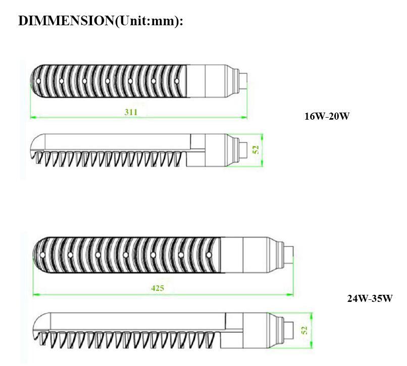 Aleación de aluminio By22d sox bombilla led 16W AC110V 220V 230V sox E18W sox35W b22 baja presión sodio LPS reemplazo de lámpara - 3