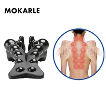 Waist Spine Relax Back Massage Board Brace Back Stretching Device Correct Cervical Vertebra Lumbar Traction Posture Corrector magic rolling wheel bar device back lumbar vertebra leg healthcare main and collateral channels special package postal