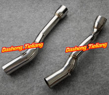 For Suzuki 2007 2008 GSXR 1000 Exhaust Muffler Silencer 2 Pipes GP Style STAINLESS STEEL GSXR1000, Spare Motorcycle Parts
