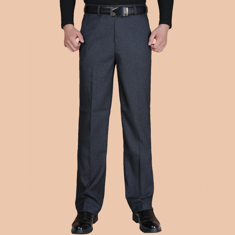 Suit Pants Trousers Classic Business Casual Fashion Spring Autumn Hombre Men Straight