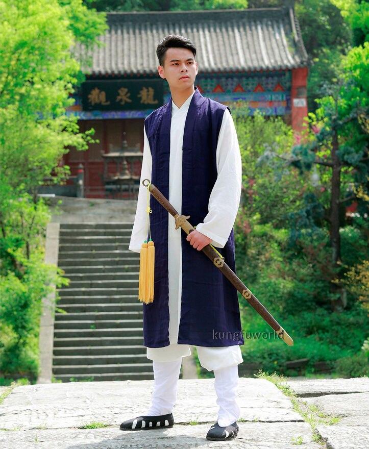 Индивидуальный заказ 24 цвета длинный жилет для Tai chi форма для боевых искусств кунг-фу крыло Chun Taoist Единоборства костюм