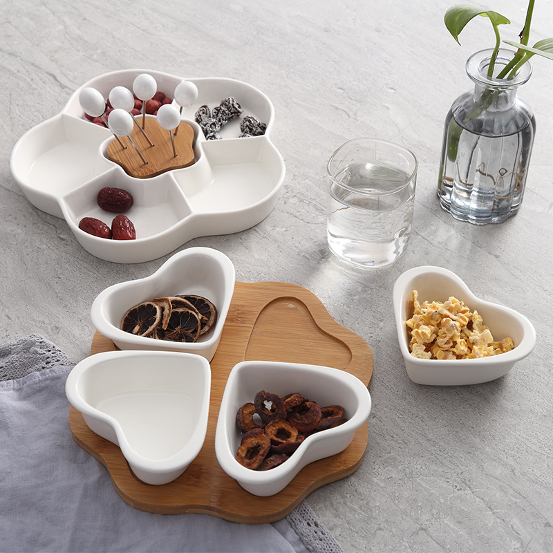 Round combination Fruits Platter Serving Trays 2