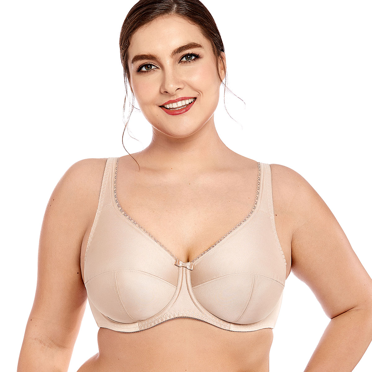9295bb5784f6b Women s Plus Size Non Padded Full Coverage Firm Support Control Underwired  Bra