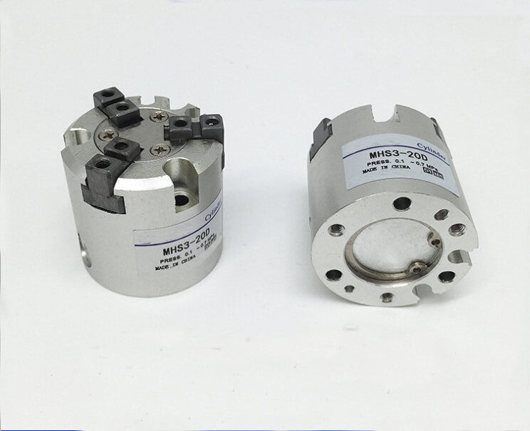 ФОТО  bore 20mm SMC type MHS3 series double action Three finger pneumatic cylinder air gripper