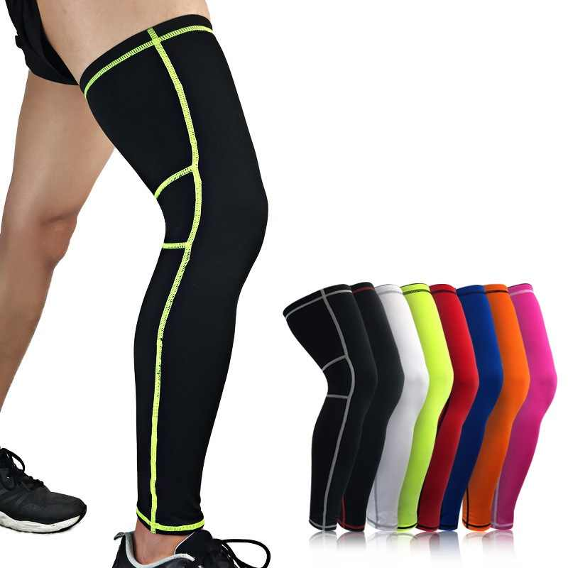 Sports Football Leggings Knee Pads Outdoor Riding Running Gear Leg Warmers Breathable Sport Leggings Equipment Rn