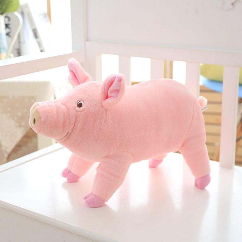 Nooer 38/65cm Kids Favor Lovely Soft Plush Pig Toys For Children Stuffed Animals Pig Doll Baby Child Birthday Gift Free Shipping 32cm kawaii pig dog plush toys stuffed doll stuffed animals dolls soft kids toys for children best gift brinquedos