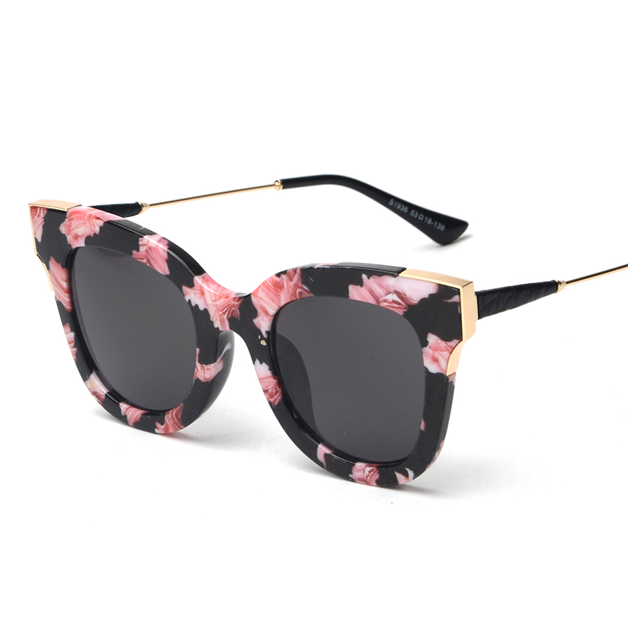 Glasses Frames Luxury : Elegant Flower Pattern Oval Frame New Luxury Sunglasses ...