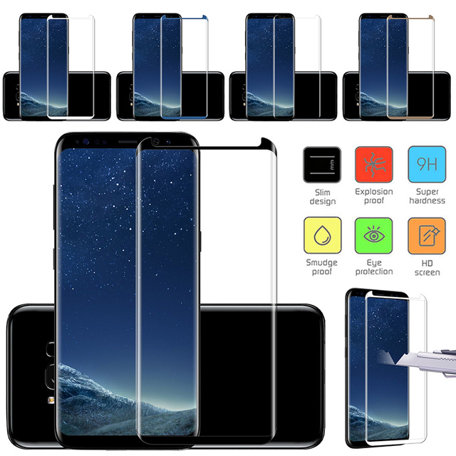 For Samsung Galaxy S8+ S8 plus Tempered Glass 3D Curved Coverage 3D Screen Protector Film Anti-scratch Explosion-proof